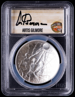 Artis Gilmore Signed 2020-P Basketball Hall of Fame Silver Dollar - First Day of Issue (PCGS MS-70) at PristineAuction.com
