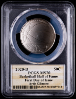 Artis Gilmore Signed 2020-D Basketball Hall of Fame Half Dollar, Clad - First Day of Issue (PCGS MS70) at PristineAuction.com
