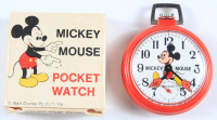 Vintage Mickey Mouse Pocket Watch With Original Box at PristineAuction.com