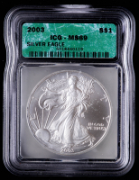 2003 American Silver Eagle $1 One Dollar Coin (ICG MS69) at PristineAuction.com
