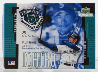 2001 Upper Deck Collectibles Ichiro Tribute to 51 Box of (25) Cards at PristineAuction.com
