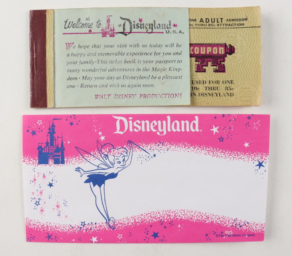 Vintage Disneyland Magic Key Coupon Ticket Booklet With (6) Tickets & Vintage Envelope Holder at PristineAuction.com