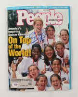 """Cindy Parlow & Carla Overbeck Signed 1999 People Magazine Inscribed """"4 USA"""" (PSA COA) at PristineAuction.com"""