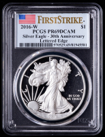 2016-W American Silver Eagle $1 One Dollar Coin (PCGS PR69 Deep Cameo) at PristineAuction.com