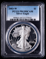 2003-W American Silver Eagle $1 One Dollar Coin (PCGS PR69 Deep Cameo) at PristineAuction.com