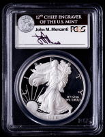 John Mercanti Signed 1998-P American Silver Eagle $1 One Dollar Coin (PCGS PR69 Deep Cameo) at PristineAuction.com