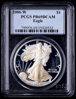 2006-W American Silver Eagle $1 One Dollar Coin (PCGS PR69 Deep Cameo) at PristineAuction.com