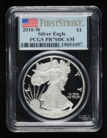 2010-W American Silver Eagle $1 One Dollar Coin - First Strike (PCGS PR70 Deep Cameo) at PristineAuction.com