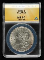 1889 Morgan Silver Dollar (ANACS MS60 Details) at PristineAuction.com
