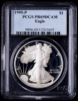 1995-P American Silver Eagle $1 One Dollar Coin (PCGS PR69 Deep Cameo) at PristineAuction.com