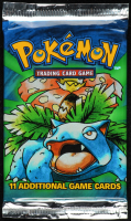 1999 Pokemon Base Set Venusaur Booster Pack with (11) Cards at PristineAuction.com