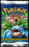 1999 Pokemon Base Set Venusaur Booster Black Triangle Error Pack with (11) Cards at PristineAuction.com