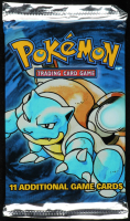 1999 Pokemon Base Set Blastoise Booster Pack with (11) Cards at PristineAuction.com