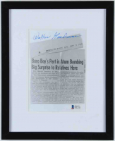 Walter Goodman Signed 8.75x10.75 Custom Framed Newspaper Cut Photo Display (Beckett COA) at PristineAuction.com