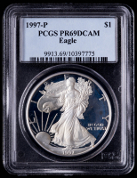 1997-P American Silver Eagle $1 One Dollar Coin (PCGS PR69 Deep Cameo) at PristineAuction.com