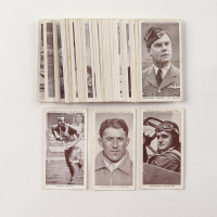 "1939 Churchman's ""Kings of Speed"" Complete Set of (50) Cigarette Cards with Jesse Owens and Howard Hughes at PristineAuction.com"