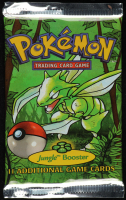 Pokemon Base Set First Edition Jungle Booster Pack with (11) Cards at PristineAuction.com