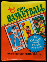 1980-81 Topps Basketball Unopened Wax Pack with (24) Cards Plus Team Pin-Up at PristineAuction.com