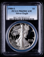 1988-S American Silver Eagle $1 One Dollar Coin (PCGS PR69 Deep Cameo) at PristineAuction.com
