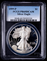 1999-P American Silver Eagle $1 One Dollar Coin (PCGS PR69 Deep Cameo) at PristineAuction.com