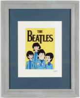 The Beatles 13x16.5 Custom Framed Hand-Painted Animation Cel Display at PristineAuction.com