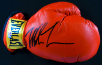Mike Tyson Signed 18x31 Custom Framed Boxing Glove Display (PSA COA) at PristineAuction.com