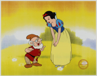 """Snow White & The Seven Dwarfs"" 11x14 Original (2) Piece Animation Cel with Disney Seal at PristineAuction.com"