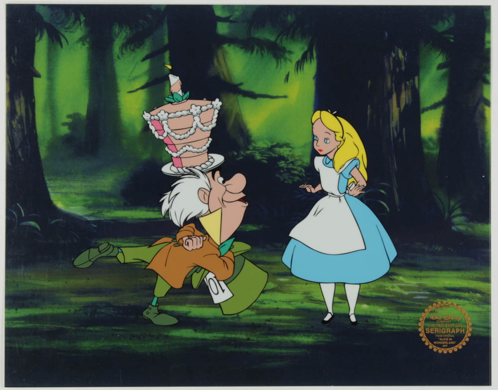 """""""Alice In Wonderland"""" 11x14 Original Production Used Animation Serigraph Cel at PristineAuction.com"""