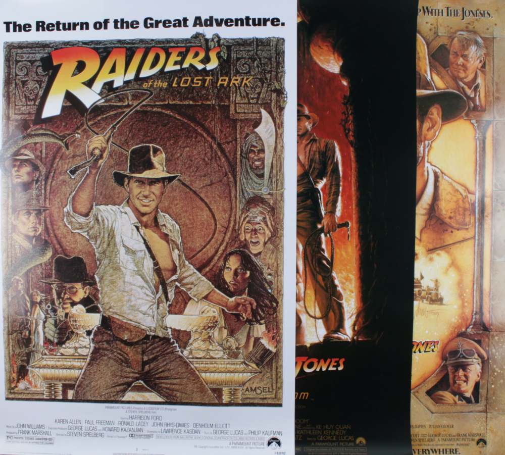 """Set of (3) """"Indiana Jones"""" 27x40 Movie Posters at PristineAuction.com"""
