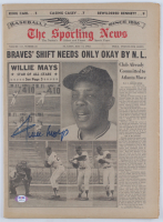 Willie Mays Signed Vintage The Sporting News Original Full Newspaper (PSA COA) at PristineAuction.com