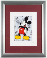 Walt Disney's Mickey Mouse 13x16 Custom Framed Hand-Painted Animation Serigraph Cel Display at PristineAuction.com