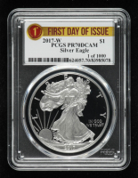 2017-W American Silver Eagle $1 One Dollar Coin - First Day of Issue (PCGS PR70 Deep Cameo) at PristineAuction.com