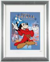 "Walt Disney's ""Fantasia"" 13.5x16.5 Custom Framed Hand-Painted Animation Serigraph Display at PristineAuction.com"