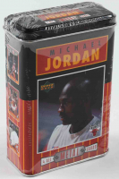 Michael Jordan 1996 Upper Deck Metal Collectors Tin of (4) Basketball Cards at PristineAuction.com