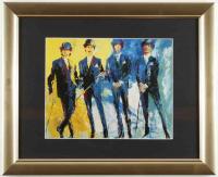 "Leroy Neiman ""The Beatles"" 13.5x16.5 Custom Framed Print Display at PristineAuction.com"