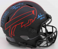Thurman Thomas, Andre Reed, & Jim Kelly Signed Bills Full-Size Authentic On-Field Eclipse Alternate Speed Helmet with (3) HOF Inscriptions (JSA COA) at PristineAuction.com
