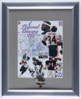 "Walter Payton Signed Bears ""A Legend Among Us"" 13x16 Custom Framed Photo Display With Super Bowl XX Pin (PSA LOA) at PristineAuction.com"