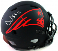 Drew Bledsoe Signed Patriots Full-Size Authentic On-Field Eclipse Alternate Speed Helmet (Beckett Hologram) at PristineAuction.com