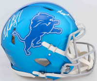 "Calvin Johnson Signed Lions Full-Size Authentic On-Field Blaze Speed Helmet Inscribed ""Megatron"" (PSA COA) at PristineAuction.com"
