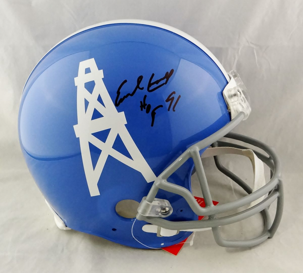 """Earl Campbell Signed Oilers Full-Size Authentic On-Field Helmet Inscribed """"HOF 91"""" (JSA Hologram) at PristineAuction.com"""