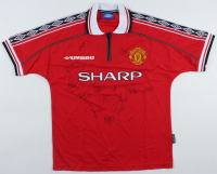 Manchester United F.C. Jersey Team-Signed By (15) With Teddy Sherringham, Ryan Giggs, Dwight Yorke (JSA LOA) (See Description) at PristineAuction.com