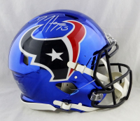 DeAndre Hopkins Signed Texans Full-Size Authentic On-Field Chrome Speed Helmet (JSA Hologram) at PristineAuction.com