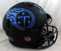 """Chris Johnson Signed Titans Full-Size Authentic On-Field Eclipse Alternate Speed Helmet Inscribed """"2006 Rush Yds"""" & """"2009"""" (Beckett Hologram) at PristineAuction.com"""