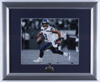 Russell Wilson Seahawks 13x16 Custom Framed Photo Display With Super Bowl XLVIII Pin at PristineAuction.com