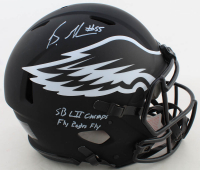"""Brandon Graham Signed Eagles Full-Size Authentic On-Field Eclipse Alternate Speed Helmet Inscribed """"SB LII Champs"""" & """"Fly Eagles Fly"""" (JSA COA) at PristineAuction.com"""