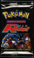 Pokemon 1st Edition Base Set Team Rocket Booster Pack with (11) Cards at PristineAuction.com