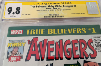 """Stan Lee Signed 2017 """"True Believers"""" Issue #1 Marvel Comic Book (CGC Encapsulated - 9.8) at PristineAuction.com"""