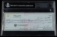 Sam Snead Signed 1987 Personal Bank Check (BGS Encapsulated) at PristineAuction.com