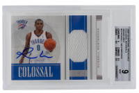 Russell Westbrook 2009-10 Playoff National Treasures Colossal Materials Signatures #23 (BGS 9) at PristineAuction.com