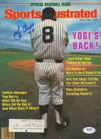 Yogi Berra Signed 1984 Sports Illustrated Magazine (Beckett COA) at PristineAuction.com